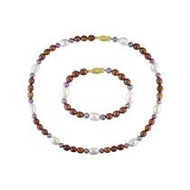 Collar De Perlas Auténticas Cultivadas Con Pulsera