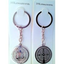12 Llaveros Llavero Medalla De San Benito Acero Inox Hm4