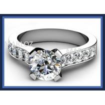 Anillo 10kt Macizo 4.5gr Con Diamante Ruso Swarovski