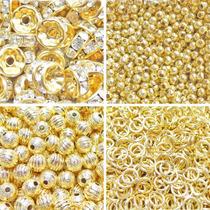 Componente Chapa De Oro, Rondel, Tubo, Bola, Argolla Alfiler