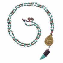 Collar Cuerno De La Abundancia Medalla Buda Joyería Budista
