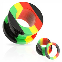Expansor Tipo Tunel De Acrilico Diseño Jamaica