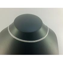 Cadena De Plata 925 Tejido Cubano Diamantada