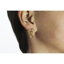 Arete Moda Dorado Flor Y Figuras Con Finos Cristales Ar355