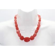 Collar De Piedra Corto Cuarzo Rojo Ccpn89