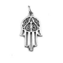 Bling Jewelry Plata Mano De Fátima Hamsa Amuleto Colgante
