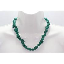 Collar De Piedra Corto Howlita Verde Ccpn98