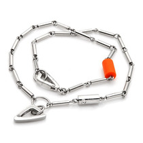 Collar Y 2 Llaveros Baraka, Acero Inoxidable B Sp0