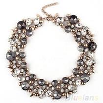 Maxi Collares Moda Flores, Perlas, Cristales, Swarovs