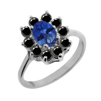 Anillo De Plata Esterlina Topacio Sapphire Blue Mystic