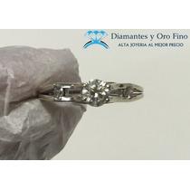 Solitario Extravagante Hermoso .47 Ct Diamantes Naturales 14