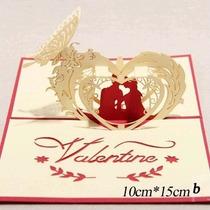 Tarjetas Tridimensionales 3d San Valentin Dia Del Amor