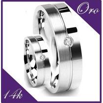 Elegantes Argollas Comfort Oro 14k Envio Expres Fedex Gratis