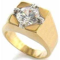 Precioso Anillo D Caballero Oro 14k Diamante 1ct Envíogratis