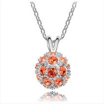Bola Elegante Colgante De Cristal (naranja)