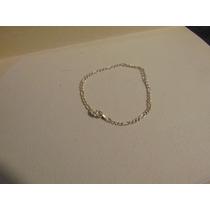 Pulsera Tejido Cartier De Plata 925 18 Cm