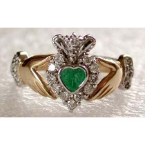 Anillo Celta Claddagh Irlandes Brillantes Buffy Boda Amor