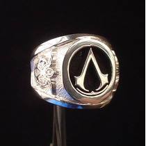 Anillo Assassins Creed Videojuego Plata Metallicraft Mn4