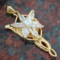 Arwen Evenstar Dije De Oro 10 K Señor De Los Anillos Amor