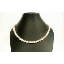Collar De Perlas Cultivadas Con Oro 14k