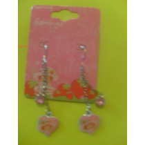 Aretes Rosita Fresita Strawberry Shortcake Rosas