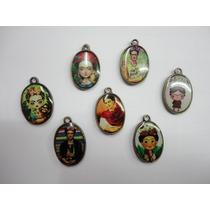 Medallas Frida Kahlo Ovaladas Medianas Oro Viejo Lote Con 10