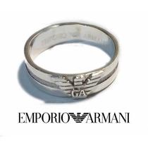 Anillo Emporio Armani Plata Ley 925 Argolla Terminado Espejo