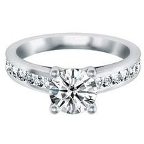 Anillo De Compromiso Oro Blanco 14k, Diamante Corte A Elegir