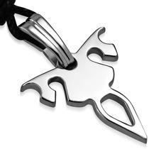 Collar De Acero Diseño Símbolo Tribal