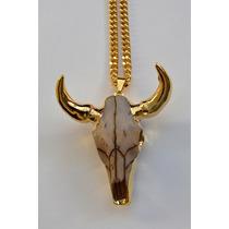Collar Cráneo Deluxe Chapa De Oro 24k