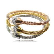 Pulcera / Brazalete Color Plata, Oro, Bronce Mod Bsst-004
