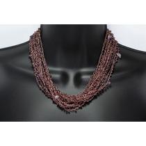 Collar De Piedra Tela Amatista Ccpn159