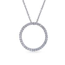 Collar Bling Jewelry Con Dije Pequeño Plata Pavé Cz 16in