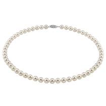 La Perla Blanca Cultivada De Akoya Japonesa 6.0-6.5mm Collar