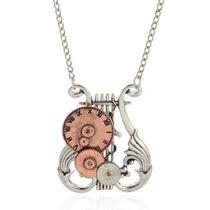 Collar Vintage Regalo Moda Mujer Reloj Angelical Engranes