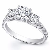 Anillo Compromiso 18kt Diamante Ruso Estuche Y Envio Gratis