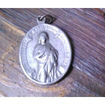 Antigua Medalla Religiosa. Amuleto Rostro De Cristo