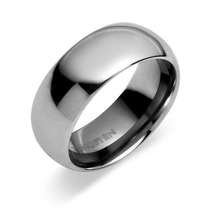 Tb Anillo Gay 8 Mm Comfort Fit Tungsten Carbide Domed Ring,