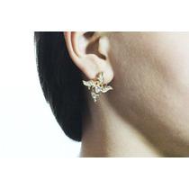 Arete Moda Dorado Cristales Estrellas 4 Picos Ar313