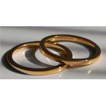 Argollas De Matrimonio En Plata Fina Maciza Y Oro 24k
