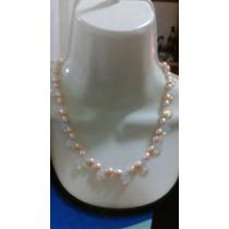 Collar De Perla Cultivada Con Opalite