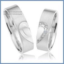 Exclusivas Argollas Mod. Hope Oro Blanco Plata Matrimonio