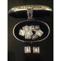 Baúl Vintage Arras Lamina De Oro Diamantadas