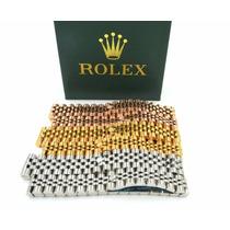 Brazalete Pulsera Esclava Rolex Presidente Baño En Oro 18k