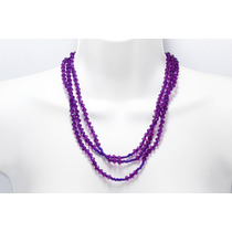 Collar Moda Morado Chaquira