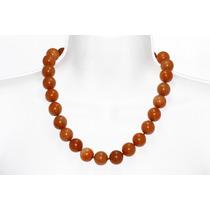Collar Corto De Ágata Naranja Ccpn23