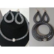 Set Collar Y Aretes Tipo Stardust Swarovski,pulsera,regalo