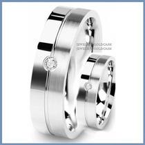 Exclusivas Argollas Mod. Paris Oro Blanco Plata Matrimonio