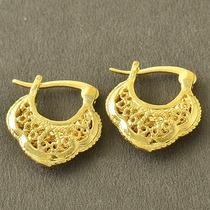 Aretes Oro Laminado 10k 15x16 Milímetros 2.5 Gramos