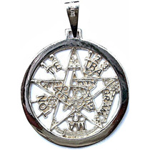 Dije De Tetragramaton Pentagrama En Plata Fina Ley.925 38mm